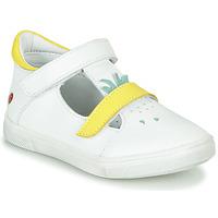 Cipők Lány Balerina cipők / babák GBB ARAMA Vte / FehÉr-sÁrga / Dpf / Trilly