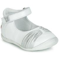 Cipők Lány Balerina cipők / babák GBB MALLA Fehér / Ezüst