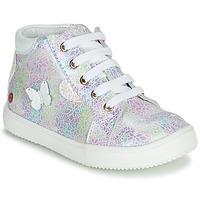 Cipők Lány Magas szárú edzőcipők GBB MEFITA Ezüst / Rózsaszín
