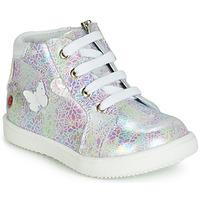 Cipők Lány Magas szárú edzőcipők GBB MEFITA Fehér / Rózsaszín