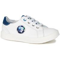 Cipők Fiú Rövid szárú edzőcipők GBB URSUL Vte / Fehér-kék / Led / Dpf / 2706