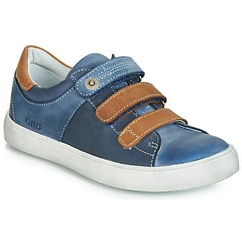 Cipők Fiú Rövid szárú edzőcipők GBB POMMOR Kék / Barna