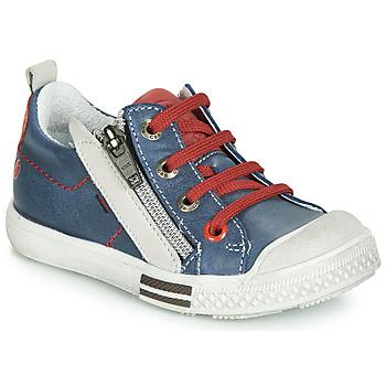 Cipők Fiú Rövid szárú edzőcipők GBB STELLIO Kék / Piros