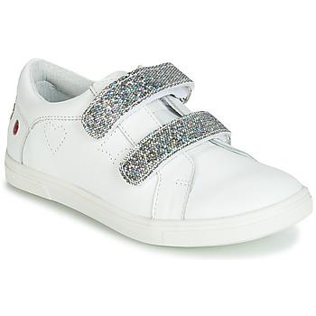 Cipők Lány Rövid szárú edzőcipők GBB BALOTA Fehér / Ezüst