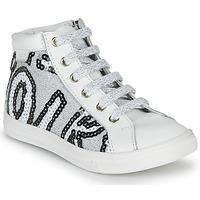 Cipők Lány Magas szárú edzőcipők GBB MARTA Svt / Fehér - flitter / Ezüst / Dpf / Dolby