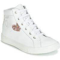 Cipők Lány Magas szárú edzőcipők GBB MARTA Fehér / Sokszínű
