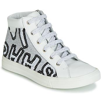 Cipők Lány Magas szárú edzőcipők GBB MARTA Fehér