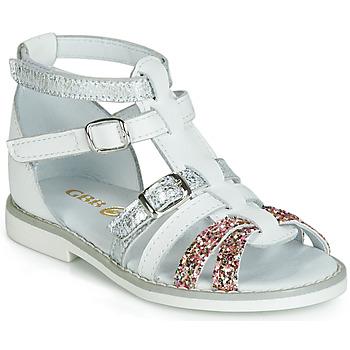 Cipők Lány Szandálok / Saruk GBB MONELA Fehér