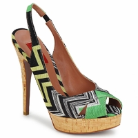Cipők Női Szandálok / Saruk Missoni RM71 Zöld