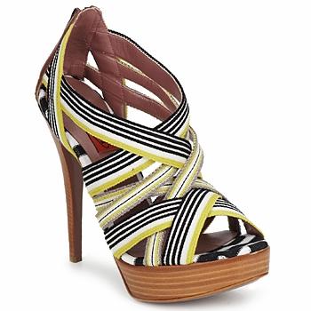 Cipők Női Szandálok / Saruk Missoni RM20 Citromsárga / Fehér