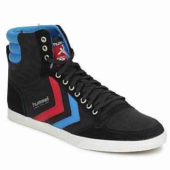 Cipők Férfi Magas szárú edzőcipők Hummel TEN STAR HIGH CANVAS Fekete  / Kék / Piros