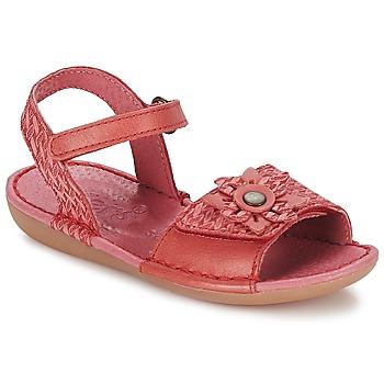 Cipők Lány Szandálok / Saruk Kickers EVANA Piros / Korall