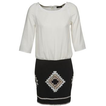 Ruhák Női Rövid ruhák One Step RAMBOUTAN Fehér / Fekete