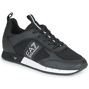 Cipők Férfi Rövid szárú edzőcipők Emporio Armani EA7 LACES U Fekete