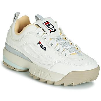 Cipők Női Rövid szárú edzőcipők Fila DISRUPTOR CB LOW WMN Fehér / Szürke