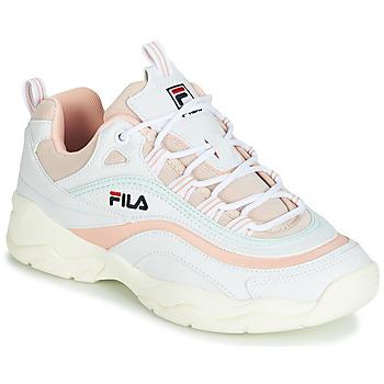 Cipők Női Rövid szárú edzőcipők Fila RAY LOW WMN Fehér / Bézs