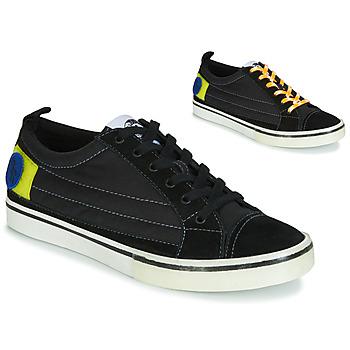 Cipők Férfi Rövid szárú edzőcipők Diesel D-VELOWS LOW PATCH Fekete