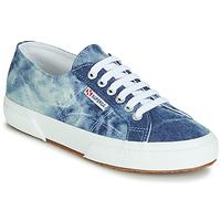 Cipők Rövid szárú edzőcipők Superga 2750 TIE DYE DENIM Kék