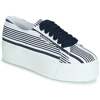 Cipők Női Rövid szárú edzőcipők Superga 2790 COT MULTI STRIPE W Fehér