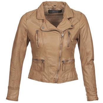 Ruhák Női Bőrkabátok / műbőr kabátok Oakwood CAMERA Konyak