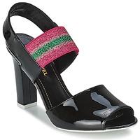 Cipők Női Szandálok / Saruk Sonia Rykiel 683902 Fekete  / Rózsaszín