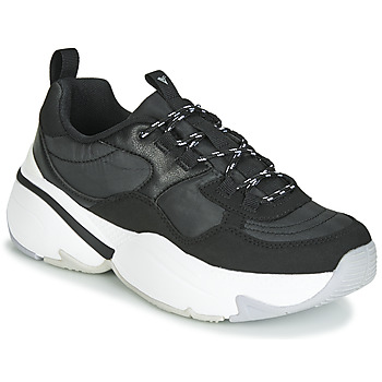 Cipők Női Rövid szárú edzőcipők Victoria AIRE NYLON/SERRAJE PU Fekete
