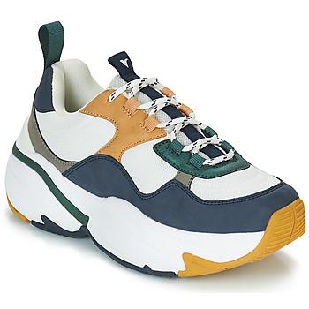 Cipők Női Rövid szárú edzőcipők Victoria SNEAKER MALLA/MULTIMATERIAL Fehér / Tengerész