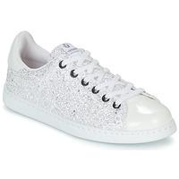 Cipők Női Rövid szárú edzőcipők Victoria TENIS GLITTER Fehér