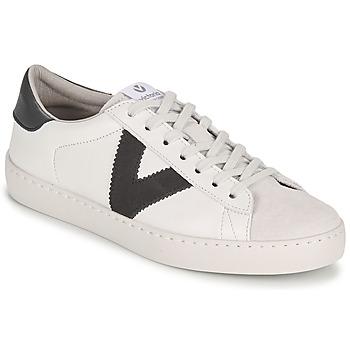 Cipők Férfi Rövid szárú edzőcipők Victoria BERLIN PIEL CONTRASTE Fehér / Szürke
