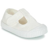 Cipők Gyerek Balerina cipők / babák Victoria SANDALIA LONA TINTADA Fehér