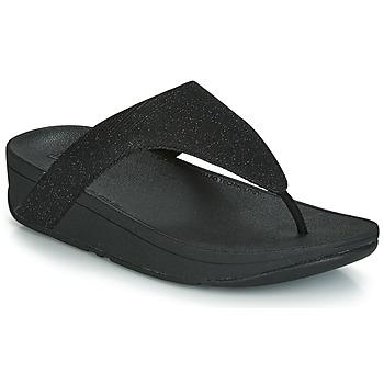 Cipők Női Lábujjközös papucsok FitFlop LOTTIE GLITZY Fekete