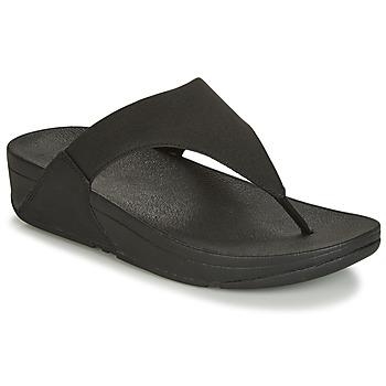 Cipők Női Lábujjközös papucsok FitFlop LULU SHIMMERLUX Fekete