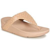 Cipők Női Lábujjközös papucsok FitFlop LOTTIE CHEVRON SUEDE Rózsaszín