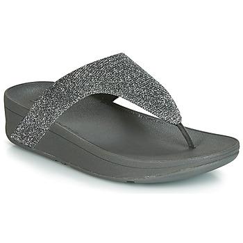 Cipők Női Lábujjközös papucsok FitFlop LOTTIE GLITZY Ezüst