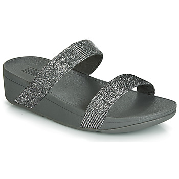 Cipők Női Papucsok FitFlop LOTTIE GLITZY SLIDE Ezüst