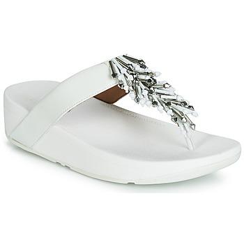 Cipők Női Lábujjközös papucsok FitFlop JIVE TREASURE Fehér