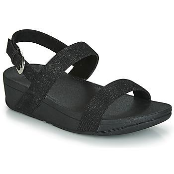Cipők Női Papucsok FitFlop LOTTIE GLITZY BACKSTRAP SANDAL Fekete