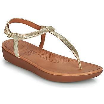Cipők Női Lábujjközös papucsok FitFlop TIA Arany