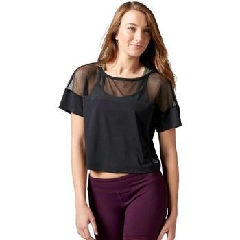 Ruhák Női Rövid ujjú pólók Reebok Sport Cardio Fashion Top Fekete