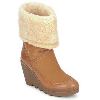 Cipők Női Bokacsizmák Ash VARUSHKA Teve