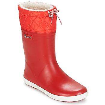 Cipők Gyerek Hótaposók Aigle GIBOULEE Piros / Fehér