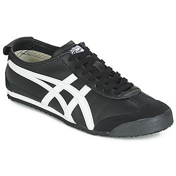 Cipők Rövid szárú edzőcipők Onitsuka Tiger MEXICO 66 LEATHER Fekete  / Fehér