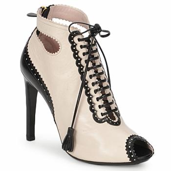 Shoes Női Bokacsizmák Moschino MA1602A Bézs