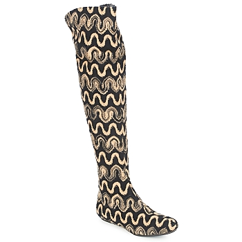 Cipők Női Combcsizmák Missoni SM05 Bézs