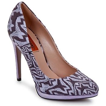 Cipők Női Félcipők Missoni SM113 Bézs / Lila