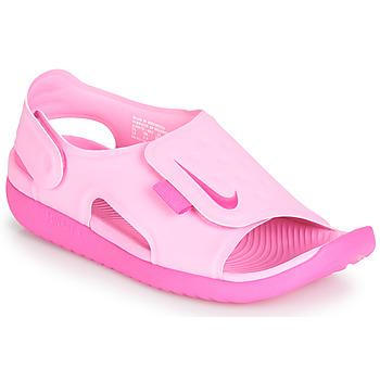 Cipők Lány Szandálok / Saruk Nike SUNRAY ADJUST 5 Rózsaszín