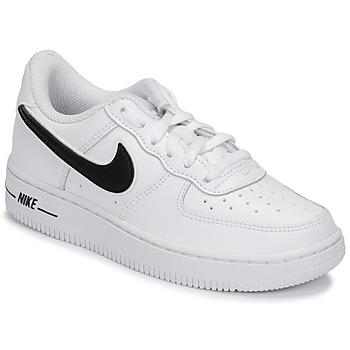 Cipők Gyerek Rövid szárú edzőcipők Nike AIR FORCE 1-3 PS Fehér / Fekete