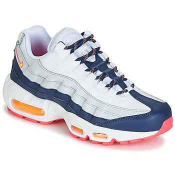 Cipők Női Rövid szárú edzőcipők Nike AIR MAX 95 W Fehér / Kék / Narancssárga